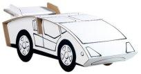 """Спортна кола - Комплект картонен модел с маркери за оцветяване от серията """"Level 1"""" -"""