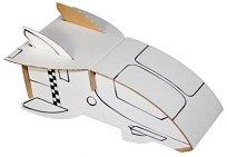 """Космически кораб - Комплект картонен модел с маркери за оцветяване от серията """"Level 1"""" -"""