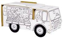 """Подвижен магазин - Комплект картонен модел с маркери за оцветяване от серията """"Level 1"""" -"""