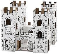"""Замък """"Dragon Rock"""" - Комплект картонен модел с маркери за оцветяване от серията """"Level 2"""" - играчка"""