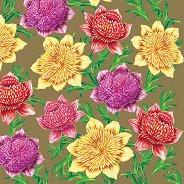 Салфетки за декупаж - Разноцветни цветя