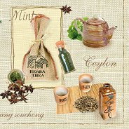 Салфетки за декупаж - Чай - Пакет от 20 броя