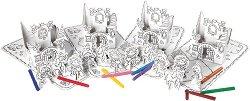 """Принцеси - Комплект от 4 картонени модела с маркери за оцветяване от серията """"Party-Sets"""" -"""