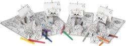 """Пирати - Комплект от 4 картонен модела с маркери за оцветяване от серията """"Party-Sets"""" -"""