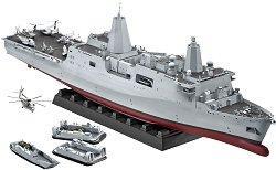 Амфибиен транспортен кораб - U.S.S. New York (LPD-21) - Сглобяем модел, лимитирана версия -