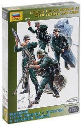Германски войници с минохвъргачка - Комплект от седем сглобяеми фигури - макет