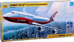 Пътнически самолет - Boeing 747-8 - Сглобяем авиомодел -