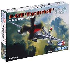 """Военен самолет - P-47D """"Thunderbolt"""" - Сглобяем авиомодел - макет"""