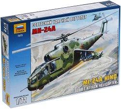 Съветски хеликоптер - MI-24A Hind - Сглобяем модел -