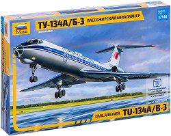Пътнически самолет - Ту-134А/Б-3 - Сглобяем авиомодел - макет