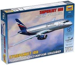 Пътнически самолет - Superjet 100 - Сглобяем авиомодел -