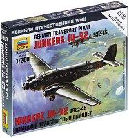 """Немски транспортен самолет - Junkers JU-52 - Сглобяем авиомодел от серията """"Великата отечествена война"""" - макет"""