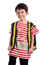 Парти костюм - Пират - Комплект с елече и превръзка за око -