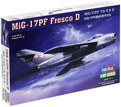 Военен самолет - MiG-17PF Fresco D - Сглобяем авиомодел - макет