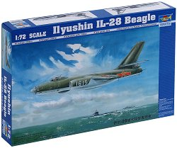 Съветски бомбардировач - Ilyshin - IL-28 Beagle - Сглобяем авиомодел - макет