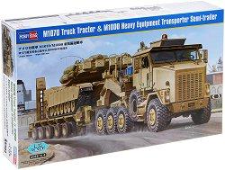 Камион за тежки товари - M1070 Truck Tractor & M1000 HET Semi-trailer - Сглобяем модел -