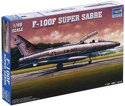 Американски изтребител - F-100F Super Sabre - Сглобяем авиомодел -