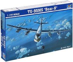 """Съветски стратегически бомбардировач - TU-95MS """"Bear-H"""" - Сглобяем авиомодел -"""