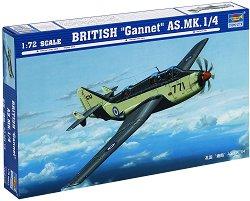 Британски военен самолет - Fairey Gannet AS Mk.1/4 - Сглобяем авиомодел -