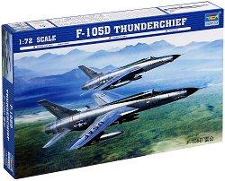 Американски свръхзвуков бомбардировач - F-105D Thunderchief - Сглобяем авиомодел -