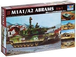 Американски танк - M1A1/A2 Abrams 5 в 1 - Сглобяем модел -