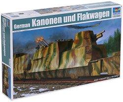 Немски брониран вагон от влак BP-42 - Сглобяем модел -