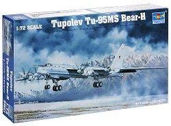 """Съветски стратегически бомбардировач - TU-95MS """"Bear-H"""" - Сглобяем авиомодел - макет"""