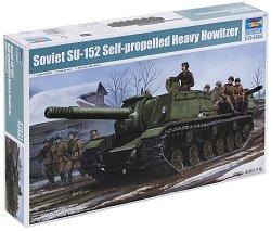 Съветска самоходна гаубица - SU-152 - Сглобяем модел -