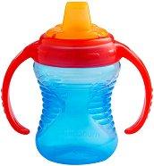 Синя неразливаща се преходна чаша с дръжки - 237 ml - За бебета над 6 месеца -