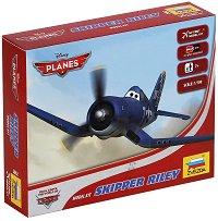 """Скипър - Сглобяем модел за деца от серията """"Самолети"""" - макет"""