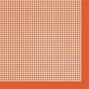 Салфетки за декупаж - Оранжево каре - Пакет от 20 броя