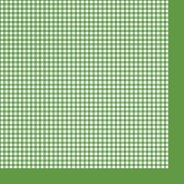 Салфетки за декупаж - Зелено каре - Пакет от 20 броя