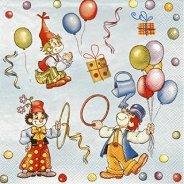 Салфетки - Клоуни - Пакет от 20 броя