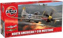 Военен самолет - North American F-51D Mustang - Сглобяем авиомодел - макет