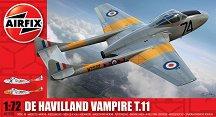 Военен самолет - De Havilland Vampire T.11 - Сглобяем авиомодел -