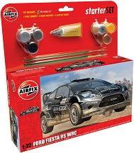 Рали автомобил - Ford Fiesta RS WRC - Сглобяем модел - комплект с лепило и боички -