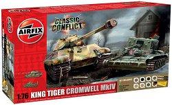 Танкове - Cromwell MkIV и King Tiger - 2 сглобяеми модела - макет