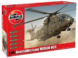 Военен хеликоптер - AgustaWestland Merlin HC3 - Сглобяем авиомодел -