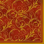 Салфетки за декупаж - Златисти орнаменти - Пакет от 20 броя