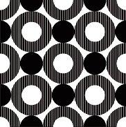 Салфетки - Черни кръгове - Пакет от 20 броя