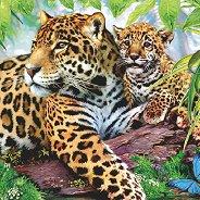 Салфетки за декупаж - Леопарди - Пакет от 20 броя