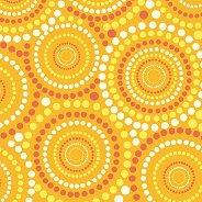 Салфетки - Жълти точки - Пакет от 20 броя