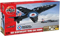 Учебно-тренировъчен самолет - RAF Benevolent Fund BAE Hawk - Сглобяем авиомодел - комплект с лепило и боички -