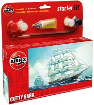 Клипер - Cutty Sark - Сглобяем модел комплект с лепило и бои -