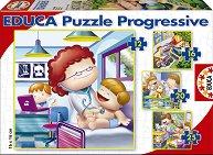 """Какъв искам да стана като порасна - 4 пъзела от серията """"Progressive Puzzles"""" - пъзел"""