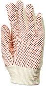 Работни памучни ръкавици с PVC пъпки - Размер 7-8 (18-20cm)