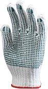 Работни памучни ръкавици с PVC пъпки - Размер 9-10 (23-25 cm)