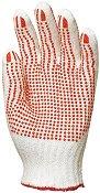 Работни памучни ръкавици с PVC пъпки - Размер 7-8 (18-20 cm)