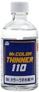 Разредител за акрилни бои на ацетонова основа - Mr. Color Thinner - релса