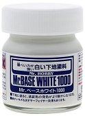 Грунд за пластмасови модели и макети - Mr. Base White 1000 - Бурканче от 40 ml - макет
